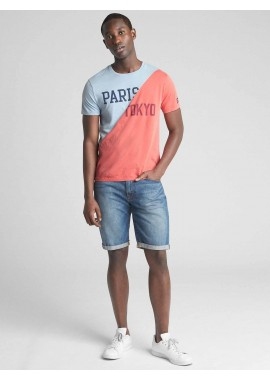 Camiseta masculina adulto com LOGO global remix
