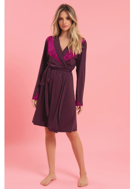 ROBE CURTO BORDEAUX