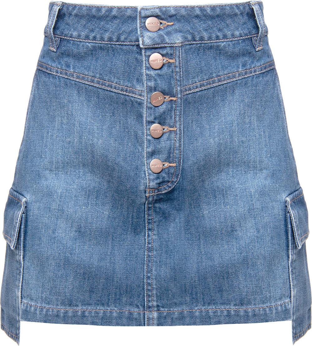 Mini Saia Jeans Cargo