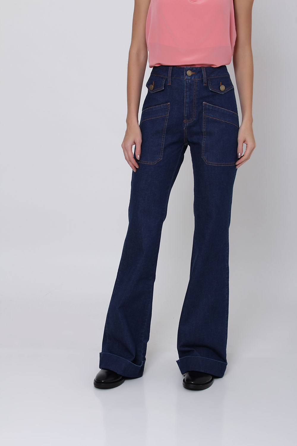 CALCA FLARE BASIC JEANS I20