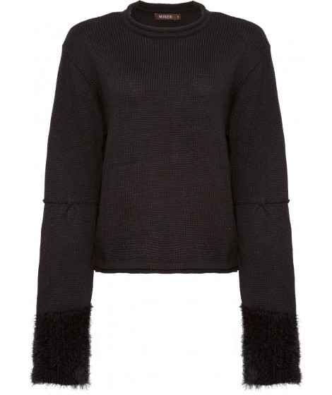 TRICOT CROPPED BLACK