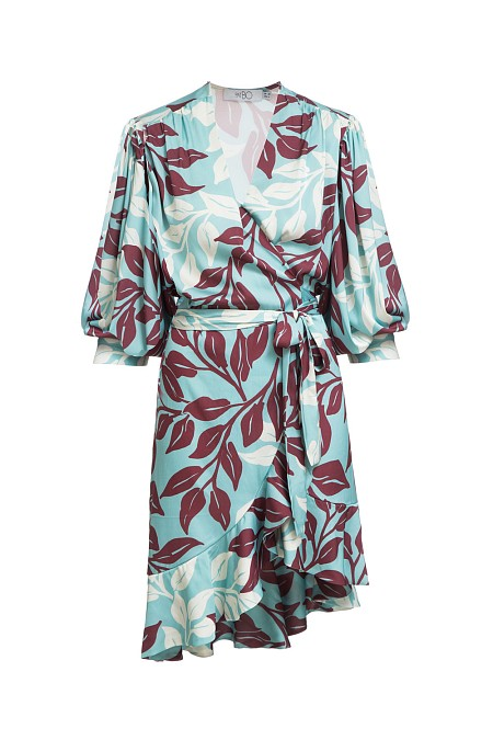 VESTIDO CURTO TROPICAL LEAVES