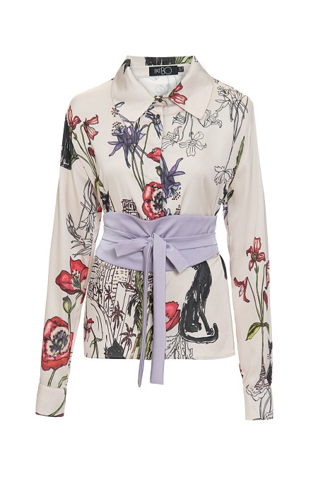 CAMISA CITY OF CATS NUDE