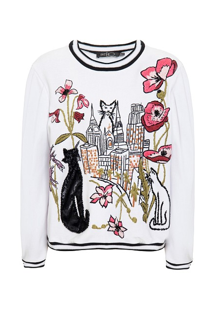 MOLETOM CITY OF CATS BRANCO