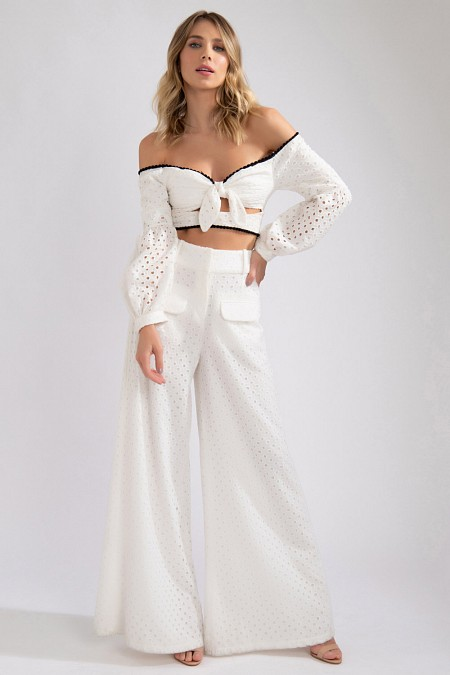 CROPPED LAISE RECORTE NÓ OFF WHITE