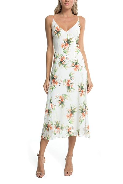 VESTIDO MIDI FLOR DO AGRESTE OFF WHITE