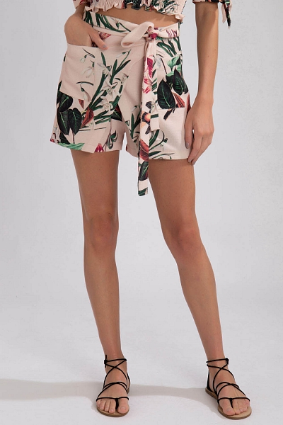 SHORTS TRANSPASSADO CAROLINA LILY ROSA