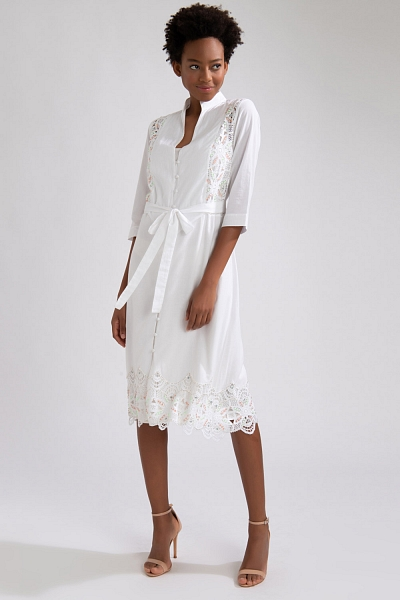 CHEMISE BORDADA OFF WHITE