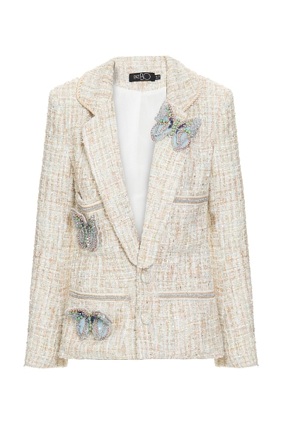 BLAZER TWEED OFF WHITE