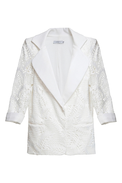 BLAZER DE RENDA GUIPURE OFF WHITE