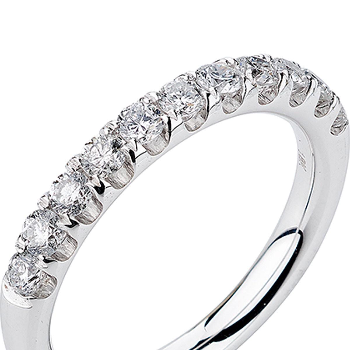 6b954012f24a3 meia aliança ouro branco com diamantes
