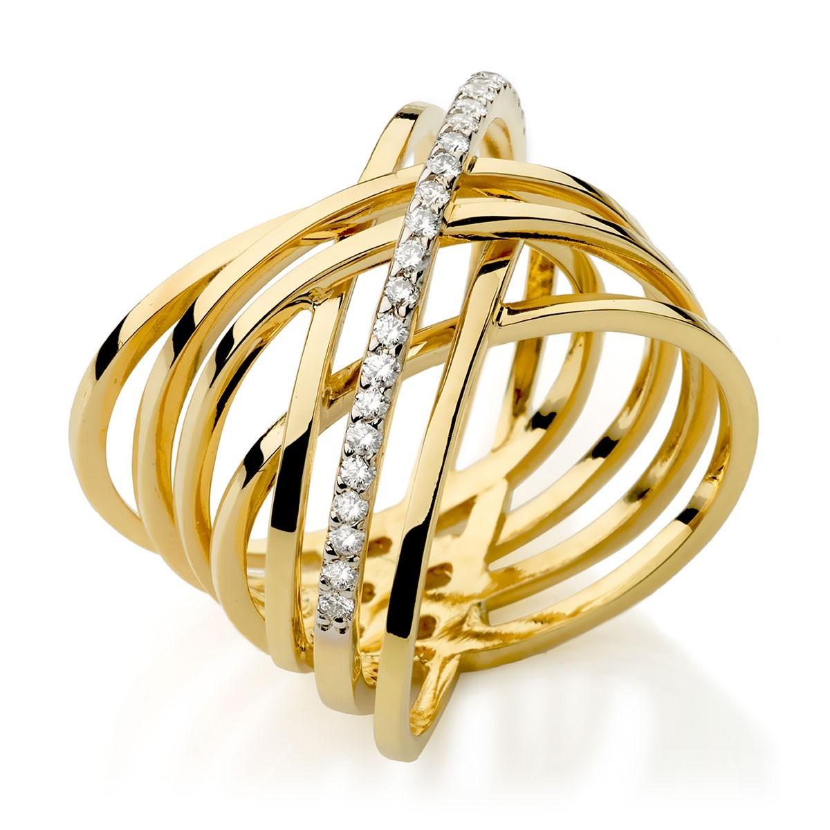 c4095984d5b38 anel arcos ouro amarelo com diamantes