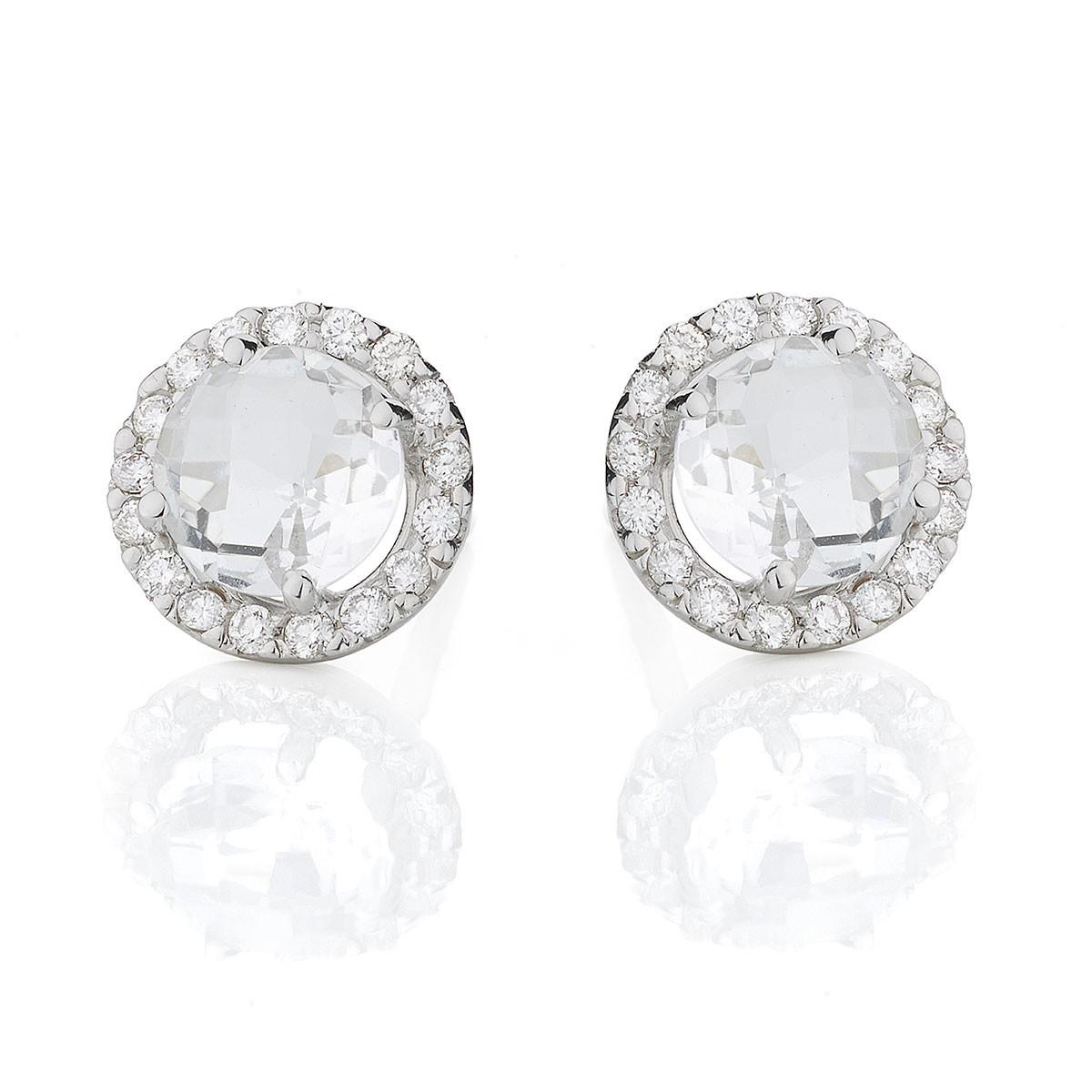 56dd446744d Brinco ouro branco 18K com diamantes e turmalinas paraíba