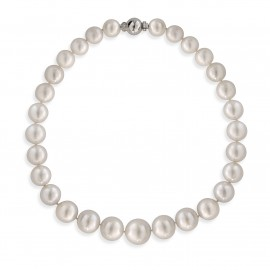 COLAR OURO BRANCO 29 PÉROLAS SOUTH SEA COM DIAMANTES