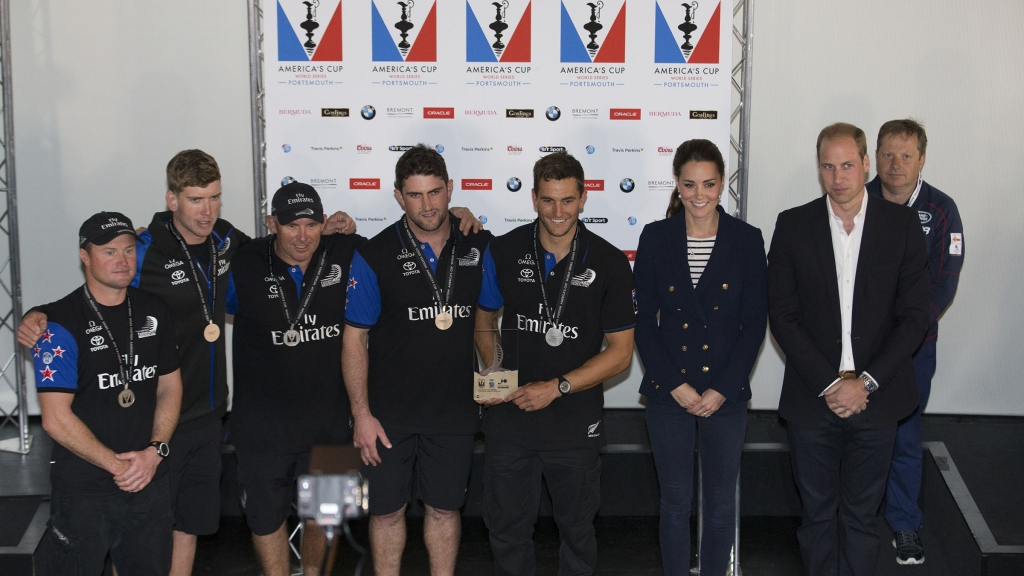Portsmouth (GBR), 35th America's Cup, Louis Vuitton America's Cup World Series Portsmouth 2015, Prizegiving with HRH Duke and Duchess of Cambridge