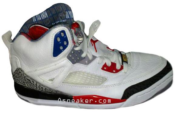 reputable site 08a72 1c996 Air Jordan Spizike   White   Fire Red