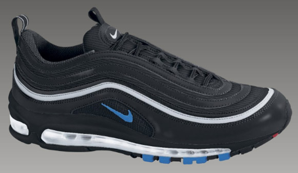 nike air max 97 blue and black