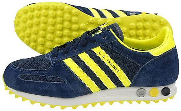 adidas la trainer yellow navy