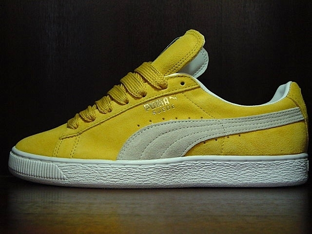 puma suede classic yellow white