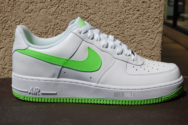 nike air force 1 low white electric green