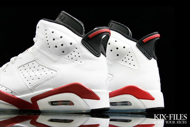 huge discount 0c24a 6c7dc ... low price air jordan vi 6 retro infrared varsity red comparison 1679a  ca40d