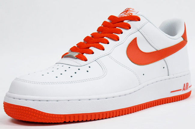 nike air force 1 white orange