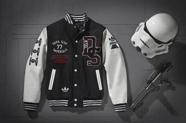 "adidas Originals ""Stormtrooper"" Varsity Jacket ""Super Death Star"" x Star Wars"