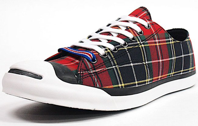 new style 490c3 d5cbc converse jack purcell low tartan