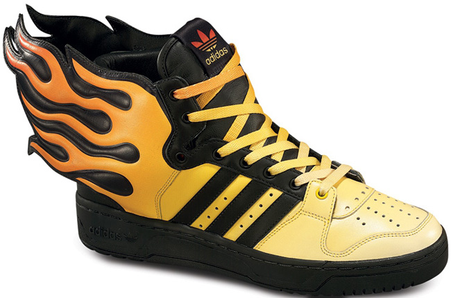 e9cc3bd2369a adidas obyo js flames x jeremy scott yellow red