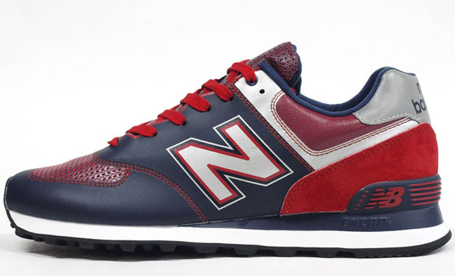 new balance navy red 574