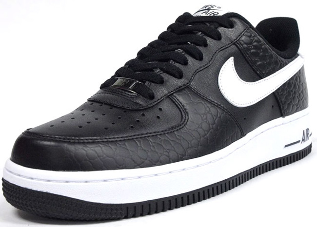 black and white leather air force 1