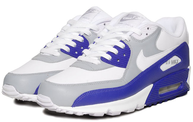 meet 9dadd 875fe Nike Air Max 90 Wolf Grey Drenched Blue ...