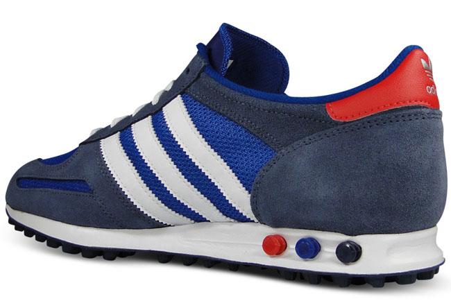 adidas Originals LA Trainer   Blue / Red