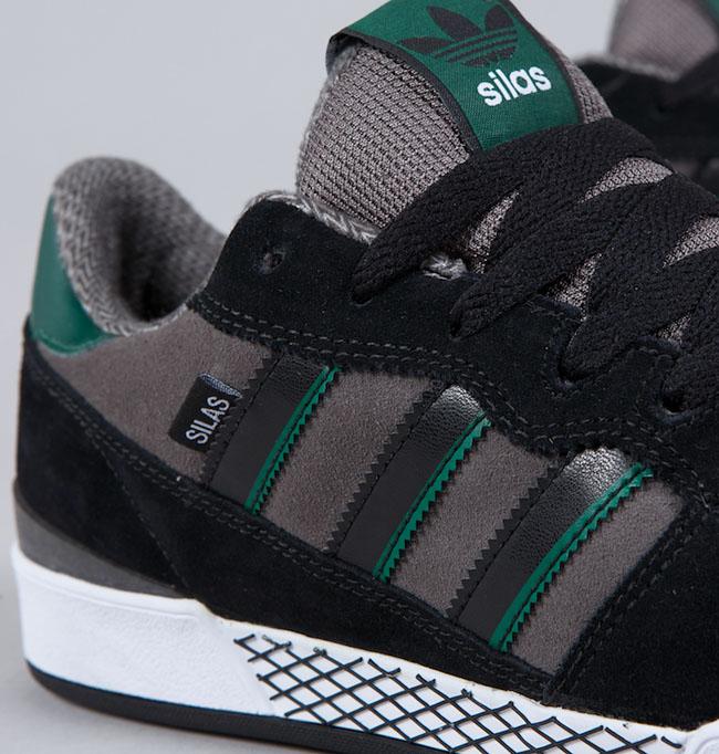 e0f6a702cd adidas skateboarding silas black iron dark green