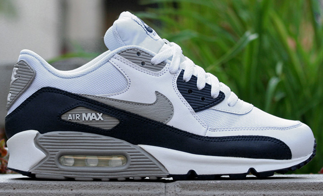 air max 90 navy white