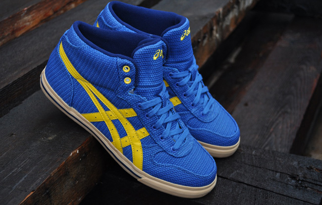 quality design 8fdb6 cbeef asics aaron mt rcv blue yellow