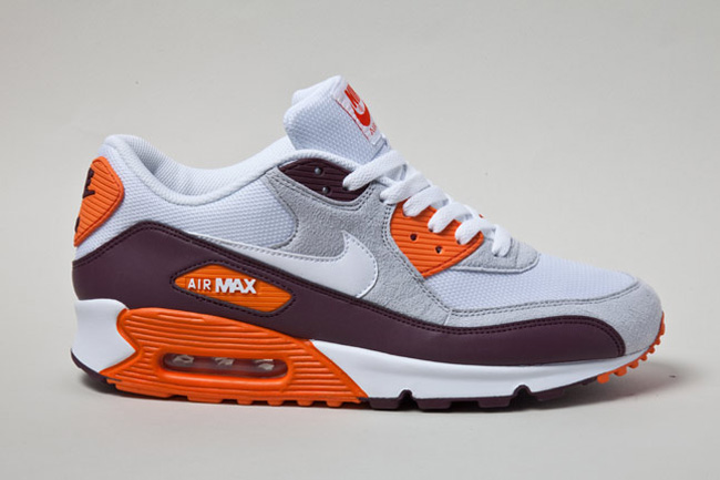 quality design 43a4e 7f3f3 ... Nike Air Max 90 Orange Burgundy ...