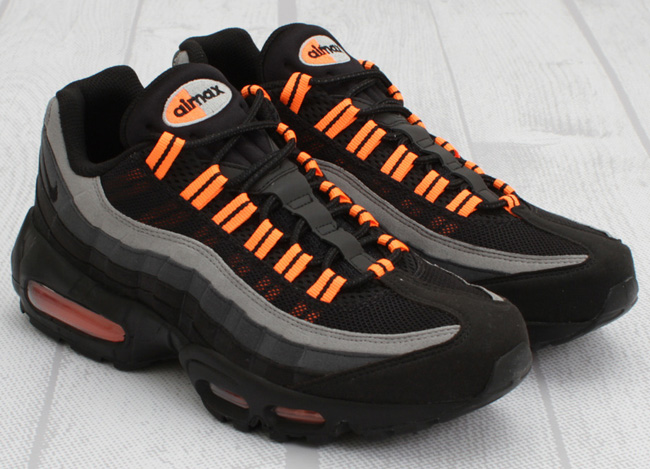 nike air max 95 black anthracite orange