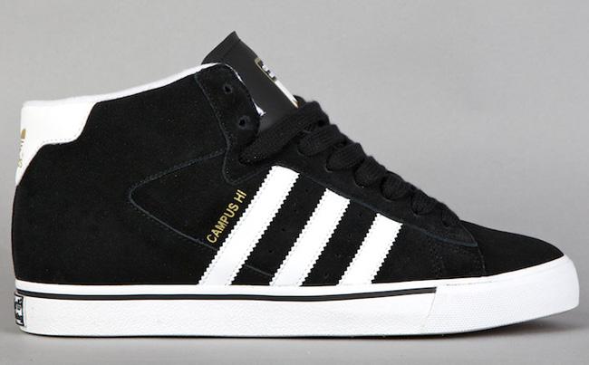 huge selection of 32783 ce903 adidas skateboarding campus vulcanized mid black white