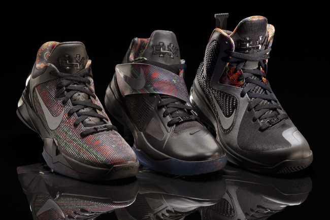 8baa7c4f0019 ... sweden releasing in europe nike basketball âblack history monthâ  collection lebron 9 kd iv kobe vii