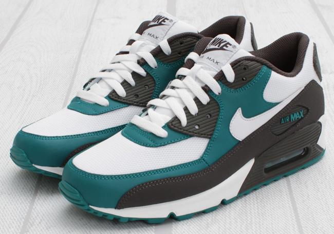 Nike Air Max 90 Midnight Fog Grey Lush Teal Shoes
