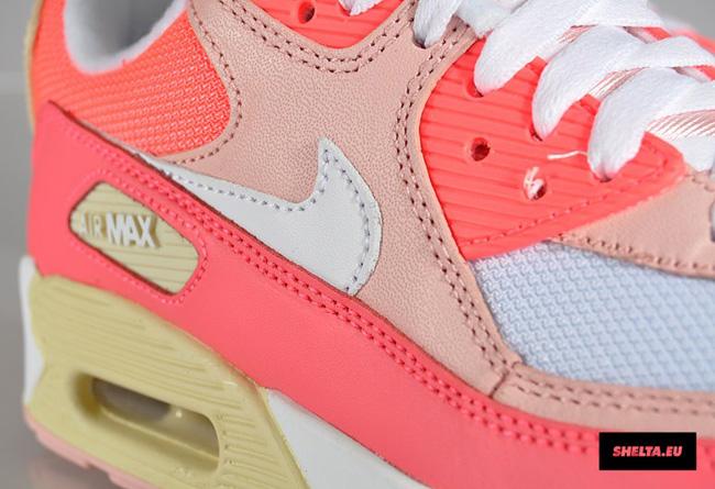 newest e55b2 ff16b Nike WMNS Air Max 90 Hot Punch, Storm Pink Beach .