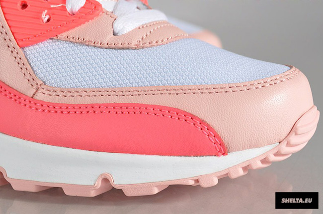 save off d100c 971cd Nike WMNS Air Max 90   Hot Punch, Storm Pink   Beach