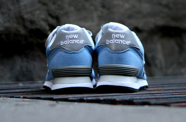 new balance 574 grey with light blue and white
