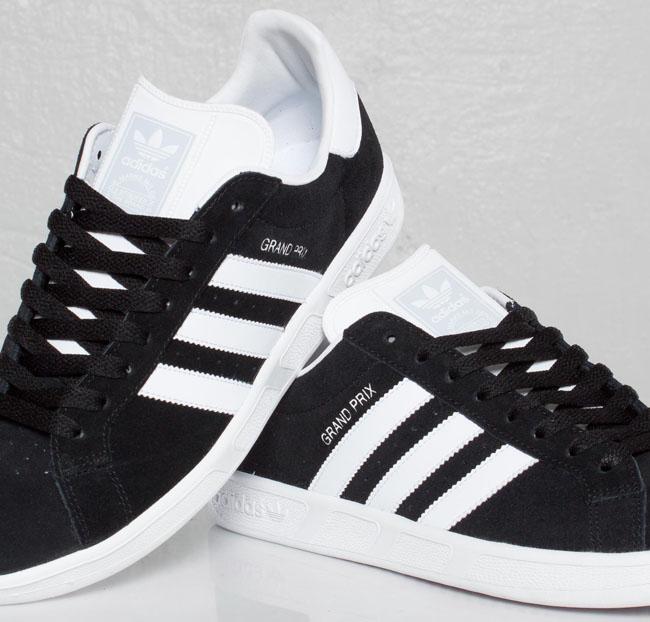 adidas Originals Grand Prix   Black, White & Clear Grey OG