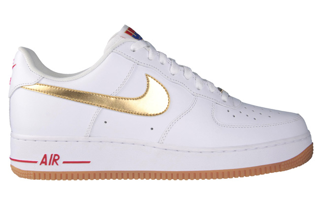 nike air force 1 gold tick