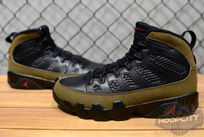 quality design 44515 3beb8 authentic olive green and black jordan 9 e61c4 763a2