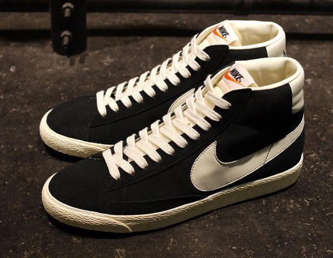 best sneakers 7e2f7 34bc7 nike blazer mid suede vintage black