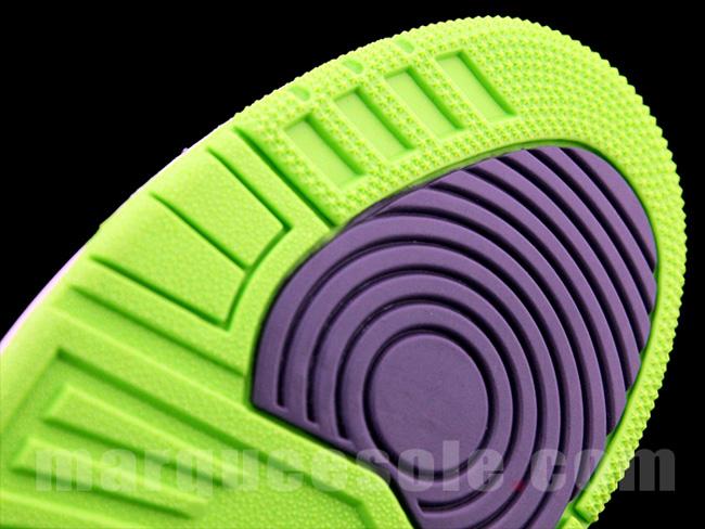 Preview: Air Jordan III (3) Retro | Purple & Green