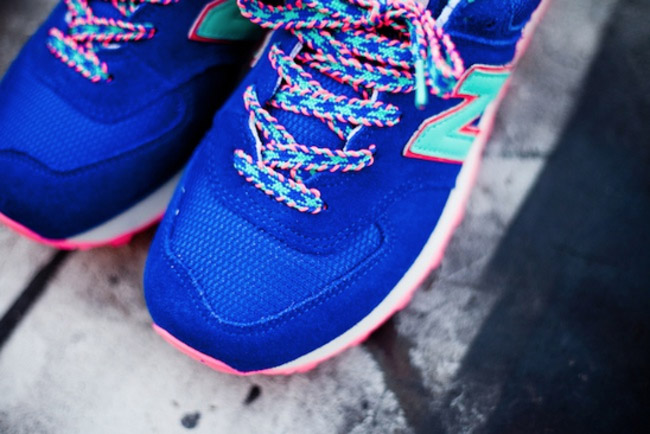 new balance 574 pink blue green